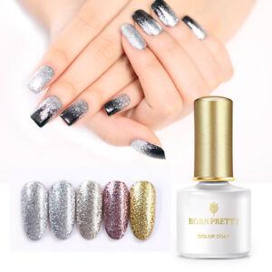 BORN-PRETTY-6ml-Silver-Glitter-Soak-Off-UV-Gel-Polish-Nail-Art-Rose-Gold-Gel-DIY