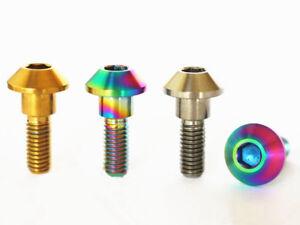 4 PCS M6x20mm Ti//Golden//Rainbow GR5 Titanium Bolts For Motorcycle Disc Brake