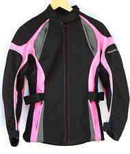 Lady Rider By Frank Thomas Motorcycle Jacket SZ SMALL Pink & Black