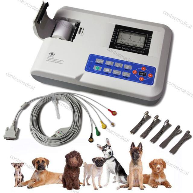 ECG100G VET Veterinary ECG/EKG Machine Single-Channel Electrocardiograph, Animal