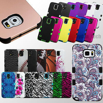 Hybrid Rubber Hard Tuff Protective Case Impact Cover For Samsung Galaxy Phones