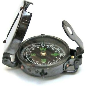 "Military Compass Antique 4"" Military Compass Silver Nautical Pocket"