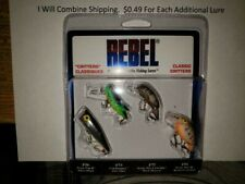 Rebel Pk4rb1 Classic Critters Fishing Lures Crankbait//Topwater//Bass New 8