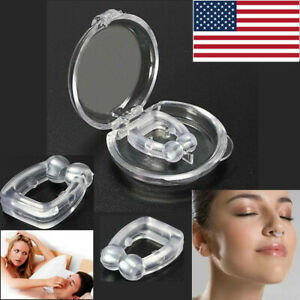 Silicone-Magnetic-Anti-Snore-Stop-Snoring-Nose-Clip-Sleeping-Aid-Apnea-Guard