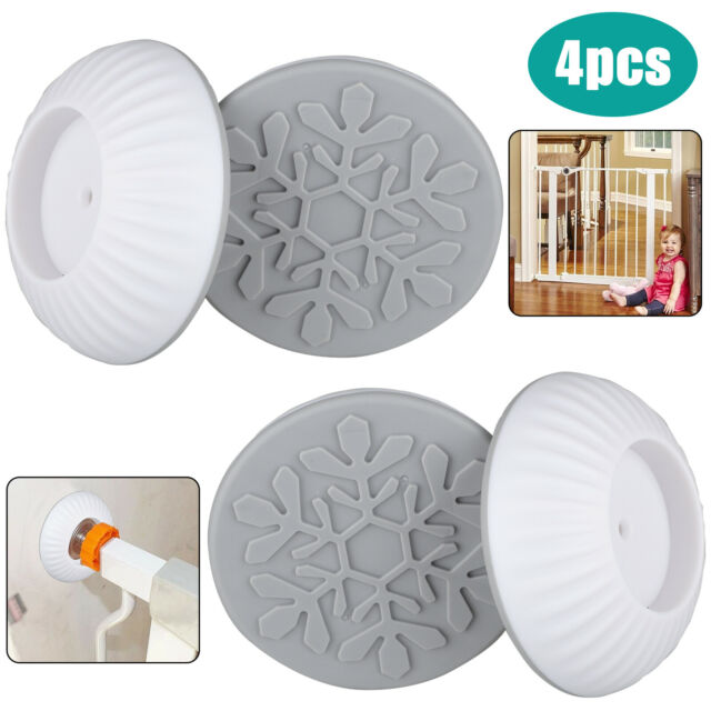 4 Pcs Walk Through Gate Wall Guard Wall Pads Protector For Baby Dog Pet Child