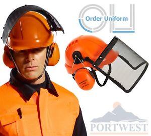 Portwest Casco Visiera Forestale Combi Protezione Kit PW98 Motosega