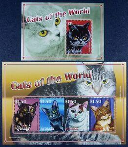 Frugal Grenade 2008 Chats Cats 6069-72 + Bloc 777 Cachet Neuf Sans Charnière De Nouvelles VariéTéS Sont Introduites Les Unes AprèS Les Autres