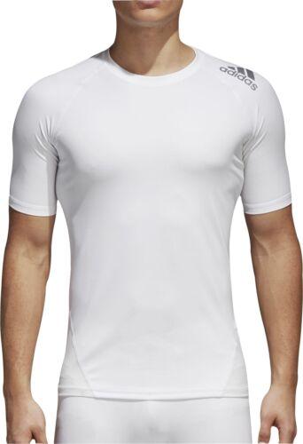 White adidas AlphaSkin Sport Mens Short Sleeve Training Top