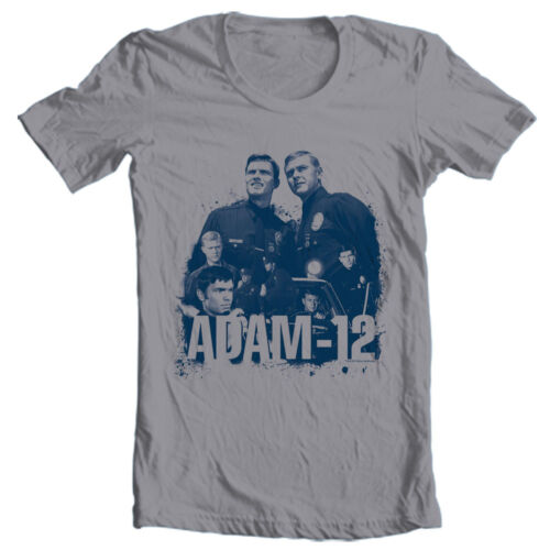Adam 12 T-shirt vintage style police tv show 1960/'s 1970/'s graphic tee NBC502