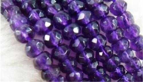 """5x8mm Faceted Russican Amethyst Gems Loose Beads 15/"""" AAA"""