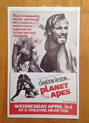Art Poster PLANET OF THE APES Movie Rare Charlton Heston Decor 24X36Inch