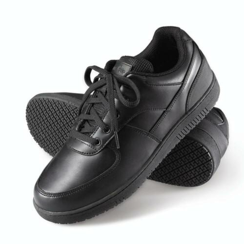 Womens Slip /& Oil Resistant Athletic Work Shoes Sneakers Black leather Boots gg