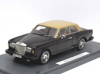 Automotive black/beige Delicious Bentley Corniche Fhc Model Building