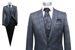 Hochzeitsanzug-Herren-5-teilig-Muga-Gr-50-Grau