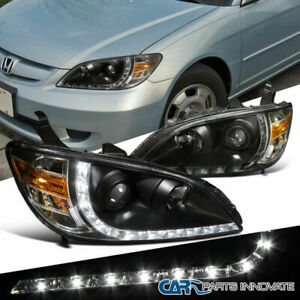 -Black 2005 Honda Civic Coupe Post Mount Spotlight Larson Electronics 1015P9J575Y 6 inch 100W Halogen Driver Side with Install kit