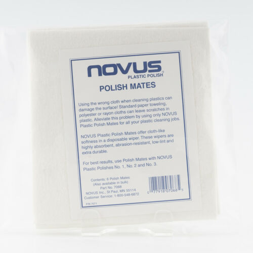 Novus Plastic Polish Mates / Novus Plastic Polish Cloths - Pack of 6 cloths