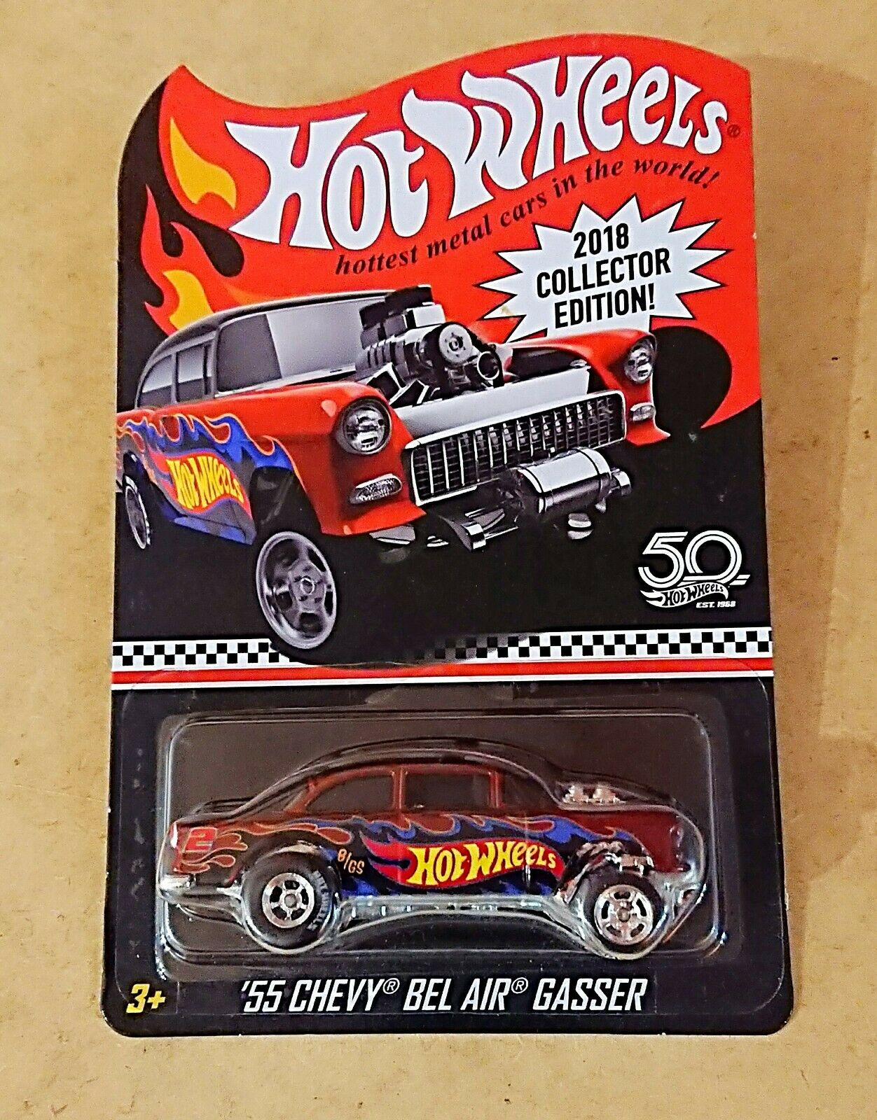 2018 Hot Wheels K MART COLLECTOR EDITION MAIL In. 55 CHEVY BEL AIR GASSER