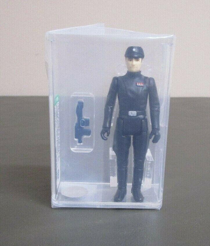 Imperial comandante 1980 figura de acción de la guerra de las galaxias calificado autoridad 80 casi nuevo Hong Kong Coo JJ nuevo caso