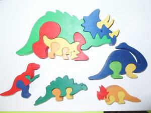 5 En Bois Dinosaure Scies Sauteuses - 1 Grands Et 4 Petits-afficher Le Titre D'origine Les Consommateurs D'Abord