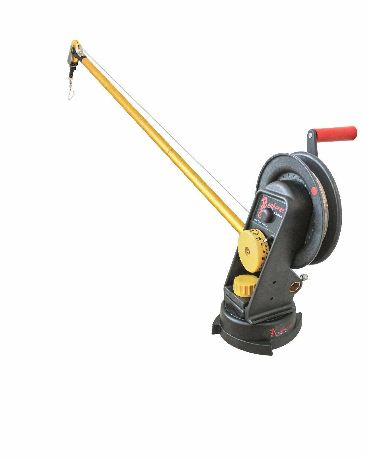 Seahorse Manual Downrigger with Swivel Base and Extended Boom By Trollmaster