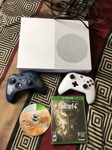 (( Microsoft Xbox One S 1TB Console Bundle w/ 2 Controllers, 2 Games + Cords ))