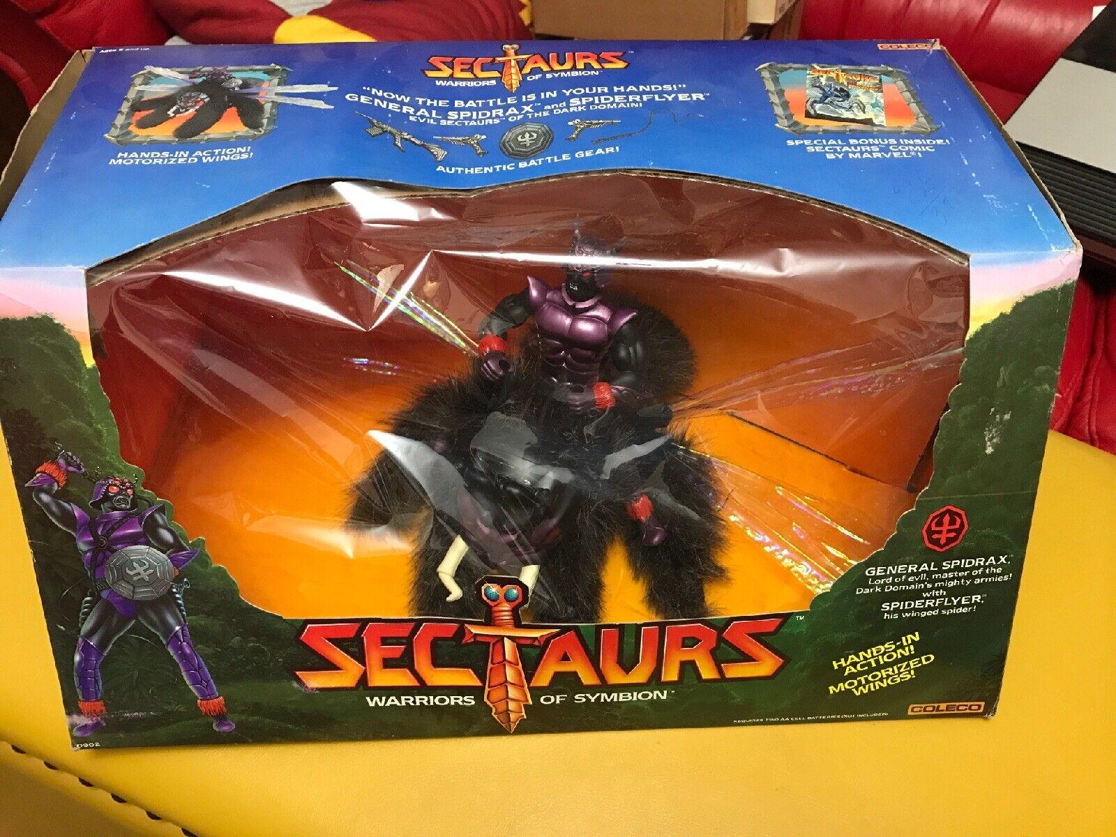Sectaurs general spidrax con spiderflyer Menta en caja sellada Coleco 1984 Menta en Caja Sellada