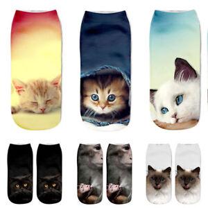 Popular-Funny-Girls-Casual-Socks-3D-Cat-Printed-Anklet-Socks-Short-Socks