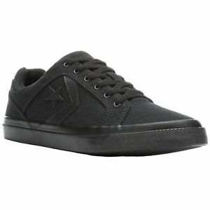 39eecab05276 Converse El Distrito Ox Black Mens Canvas Low-top Lace-Up Sneakers ...