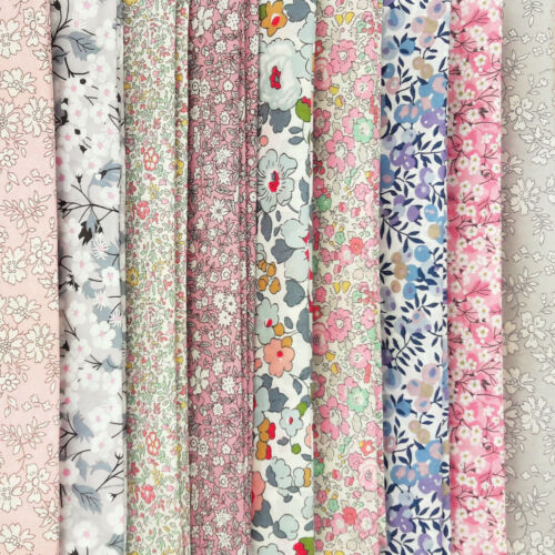 Liberty ~ Wiltshire Berry E Blue Tana Lawn Fabric quilt dressmaking floral