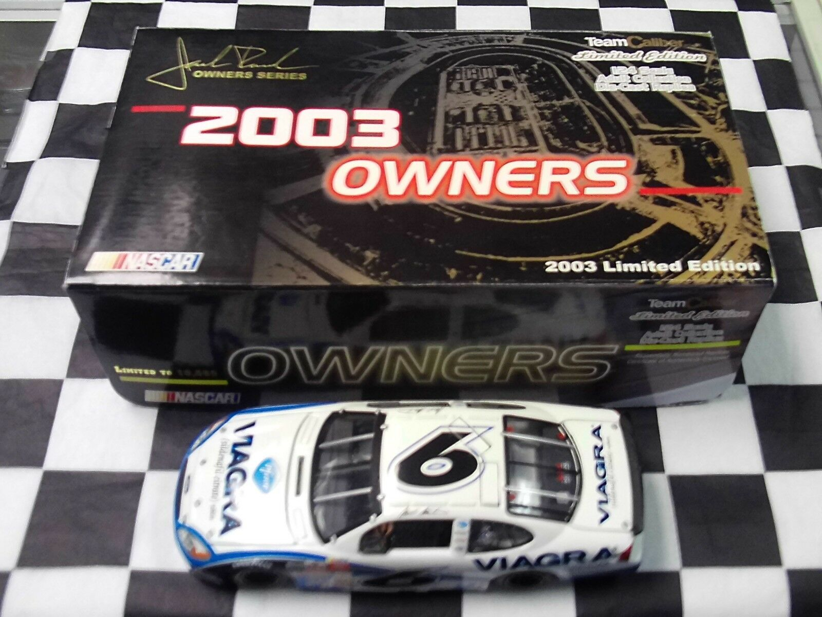 Mark Martin  6 Viagra 2003 Taurus 1 24 Team Caliber MMB0206VI Owners Series NIB