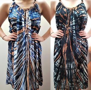 BALI-BOHO-SUMMER-BEACH-SUN-DRESS-TIE-DYE-2-CASUAL-SIZE-L-3XL-14-16-18-20-22-24