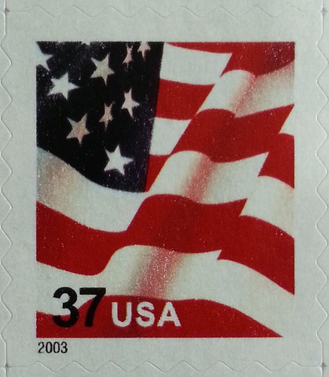 2003 37c Flag, SA Single from ATM Scott 3637 Mint F/VF