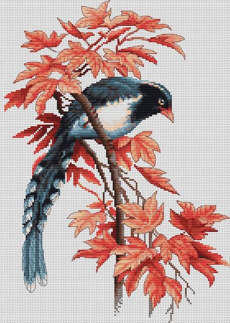 Counted Cross Stitch Kit Luca-S - Birdie