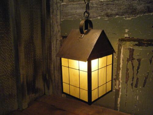 Light Fixture 18th century lantern Hanging Antique Patina Brass Period Vintage