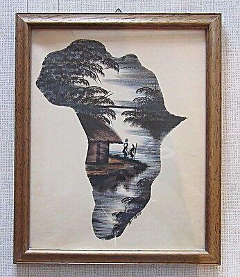 Frank Afrikanische Original Tuschezeichnung,aus Sammlung * Kenia 1970. * 1