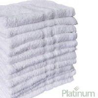 6 Poly Cotton Hotel Hand Towels 16x27 Plush Platinum Premium on sale