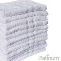 60 Poly Cotton Hotel Hand Towels 16x27 Plush Platinum Premium on sale
