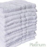 12 Poly Cotton Hotel Hand Towels 16x27 Plush Platinum Premium on sale