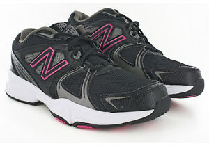 9b6ba1bc8ec6 Image is loading Women-New-Balance-WX417BP3-Running-Medium-Black-Pink-
