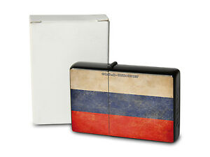 Pocket Windproof Lighter Brushed Oil Refillable Russia
