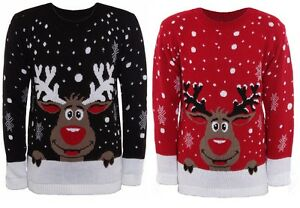 LADIES-WOMENS-KNITTED-RUDOLPH-REINDEER-XMAS-CHRISTMAS-NOVELTY-JUMPER-SWEATER-TOP