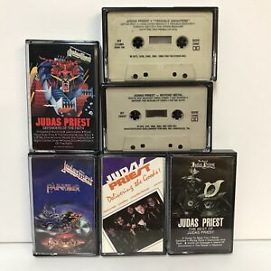 Judas-Priest-Cassette-Tapes-Delivering-The-Goods-Painkiller-Defenders-Of-Faith