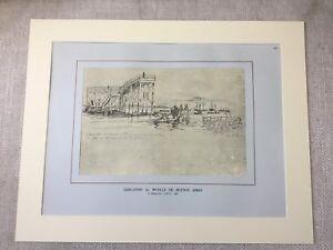 Vintage-Print-Buenos-Aires-Port-Argentina-Argentinian-Maritime-Nautical-Art
