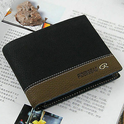 New Fashion Mens Leather Bifold ID Money Holder Purse Wallet Clutch Handbag