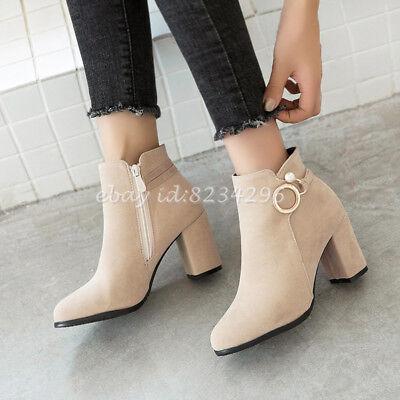 Elegant Schuhe High Heels Damen Ankle Stiefeletten Boot Plusgrosse 46//47 Stiefel