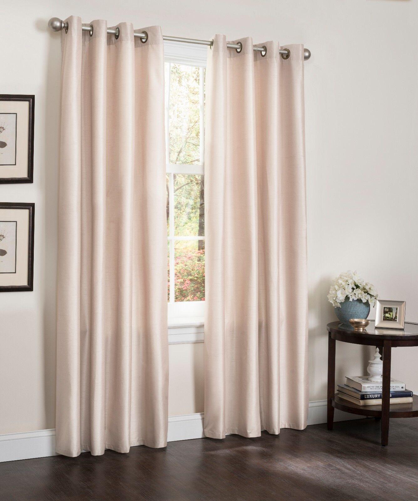 Blackout Window Curtain Panels Faux Silk Erin 54x90