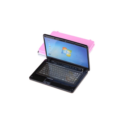 1//12 Dollhouse Miniature Dollhouse Accessories Mini Laptop Home Decor 3ColoursOP