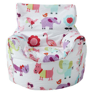 Superieur Image Is Loading Children 039 S Beanbag Chair Cute Pets Girls