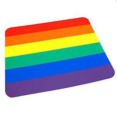 Gay Pride Rainbow Mouse Pad Foam Back