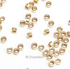 50x 14k gold filled CRIMP BEAD 2x1mm 2x1 mm Tube 2mm